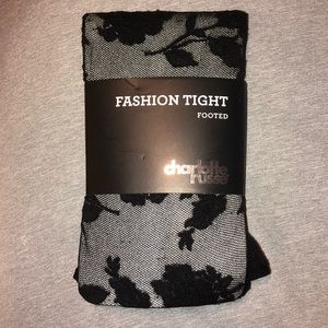 Floral pattern fashion tight footed